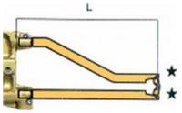 Комплект плеч с возд. охл.L=330мм,D=18мм Tecna 5085