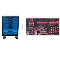 Тележка с 7 ящиками+ПОДАРОК инструмент 250 предметов KraftWell арт. KRW-TTB+SET250