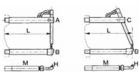 Нижнее прямое плечо 250мм (тип B) для клещей 3321, 3322, 3324 Tecna 4856