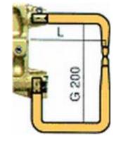 Комплект плеч с возд. охл.L=235мм,D=18мм Tecna 5033 фото