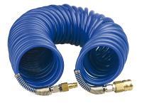 Шланг с фитингами рапид спиральный полиуретановый 8х12мм 15 бар 15м Fubag 170306