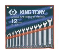Набор комбинированных ключей, 8-22 мм., 12 предметов KING TONY 1212MR