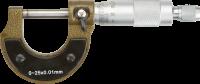 Микрометр TOPEX 0-25 мм 31C629