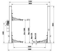 Двухстоечный электрогидравлический подъемник ECO1140