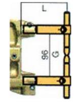 Комплект плеч с возд. охл.L=332мм,D=18мм Tecna 5004