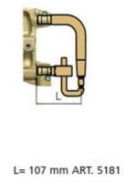 Комплект плеч с водяным охл.L=107мм,D=20мм Tecna 5181