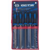 Набор напильников 200 мм, двухкомпонентные рукоятки, 5 предметов KING TONY 1005GQ