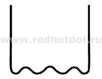 Скоба волнообразная 0.6 мм (100 шт.)