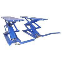 Подъемник ножничный короткий г/п 3000 кг. напольный KraftWell арт. KRW3FS_blue