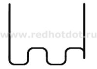Скоба крупная змейка 0.6 мм (100 шт.)
