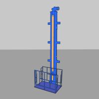 Подъемник одностоечный для подъема груза П3-11 г/п 400кг (380В)