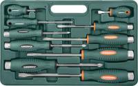 Набор отверток ударных, силовые под ключ, шлиц и крест, 10 предметов, код товара: 47735, артикул: D70PP10S