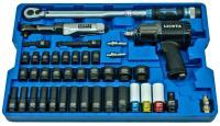 Набор с гайковертом, пневмотрещоткой, ударными головками и динамометрическим ключом ACK-B1001