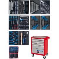Набор инструментов в красной тележке, 173 предмета KING TONY 932-000AMR