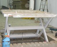 Гидравлический подъемный стол с откидным мостиком ДАРЗ СП 2,5-09